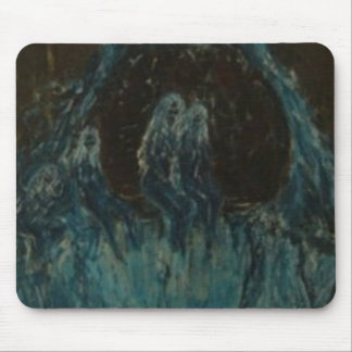 The Blue Bathers Mouse Pad