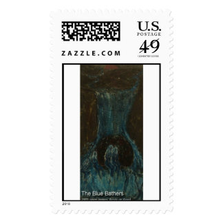 the blue bathers postage stamps