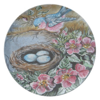 The Blue Bird's Nest Plates