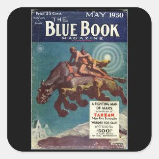 The Blue Book Magazine _May 1930_1_Pulp Art Square Sticker