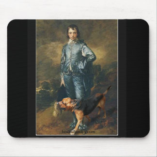 The Blue Boy With Wimsey the Bloodhound Mouse Pad