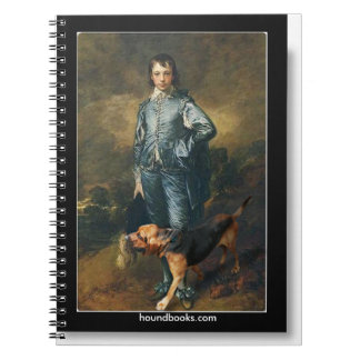 The Blue Boy With Wimsey the Bloodhound Spiral Notebook