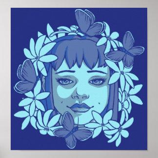 The Blue Butterflies Poster