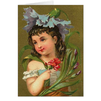 The Blue Carnation Flower Nature Fairy Greeting Cards