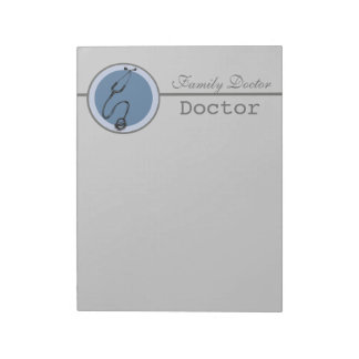 The Blue Circle Stethoscope Doctor Memo Note Pad
