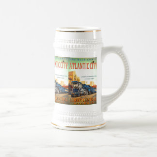 The Blue Comet Train Beer Stein