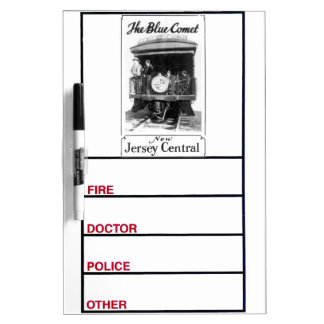 The Blue Comet Train Dry Erase Whiteboards