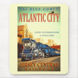 The Blue Comet Train Mousepad