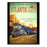 The Blue Comet Train Postcard at Zazzle