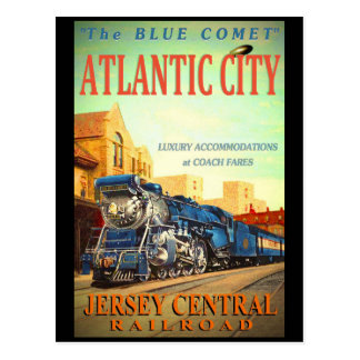 The Blue Comet Train Postcard