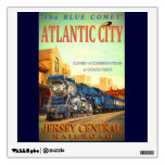The Blue Comet Train Wall Decal