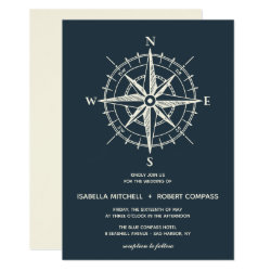 The Blue Compass | Wedding Invitation