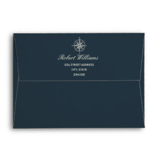 The Blue Compass | Wedding Personalized Envelope