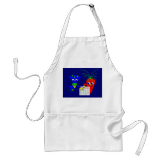 The Blue Cow and The Red Carrot Adult Apron