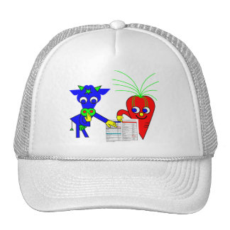 The Blue Cow and The Red Carrot Trucker Hat