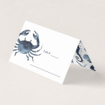 The Blue Crab | Nautical Wedding table place Place Card