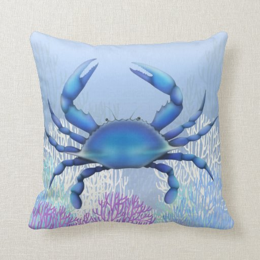 The Blue Crab Pillow