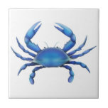 """The Blue Crab Tile<br><div class=""""desc"""">Original fine art design of a blue crab by artist Carolyn McFann of Two Purring Cats Studio printed on a quality ceramic tile.     See a few of our products below (click to go to that product) and visit our very artistic stores at:</div>"""