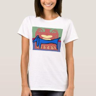 The Blue Dachshund Abstract T-Shirt