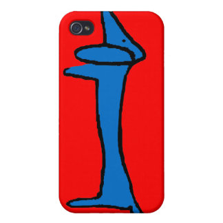 The Blue Dachshund iPhone 4 Covers