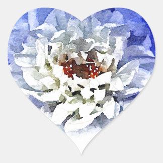 The Blue Dahlia Heart Sticker