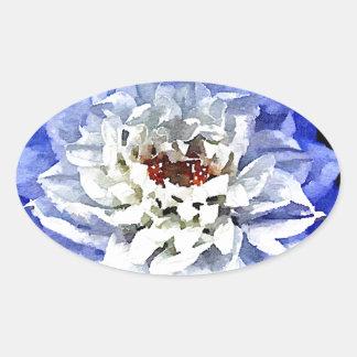 The Blue Dahlia Oval Sticker