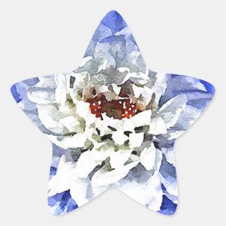 The Blue Dahlia Star Sticker