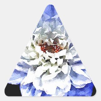 The Blue Dahlia Triangle Sticker