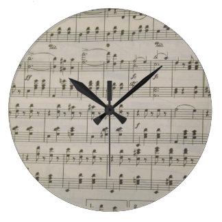 The Blue Danube Waltz Large Clock