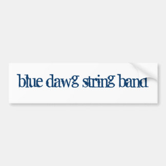 THE BLUE DAWG STRING BAND Bumper Sticker Car Bumper Sticker