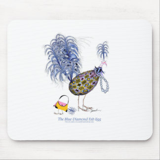 The Blue Diamond Fab Egg, tony fernandes Mouse Pad
