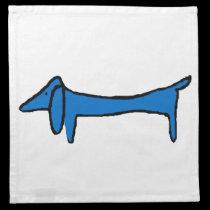 The Blue Dog Dachshund napkins