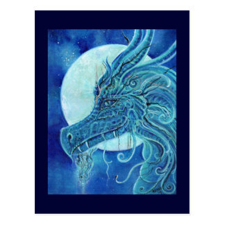 The Blue Dragon fantasy by Renee Lavoie Postcard