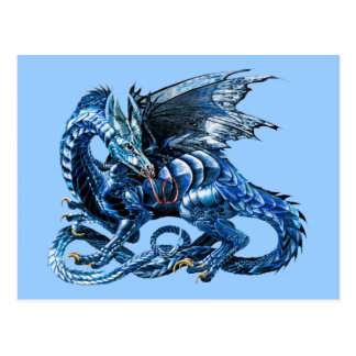 The blue dragon - postcard
