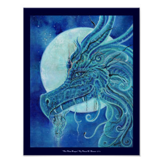 The Blue dragon poster by Renee Lavoie