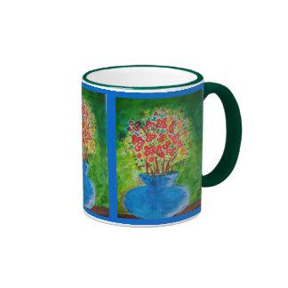 The blue flowerpot mug