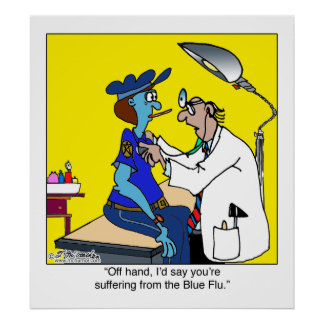 The Blue Flu Poster