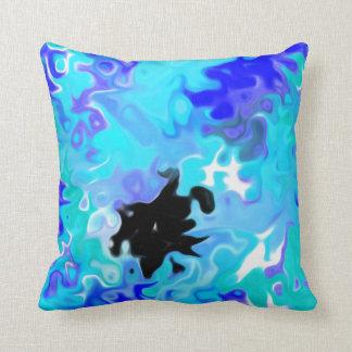 The Blue Forgot:  Modern Art Throw Pillows