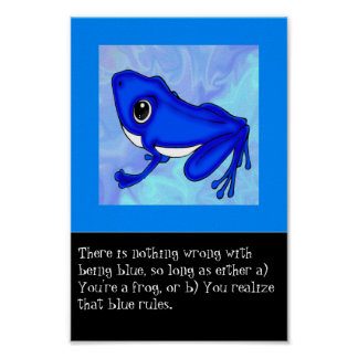 The Blue Froggy Poster