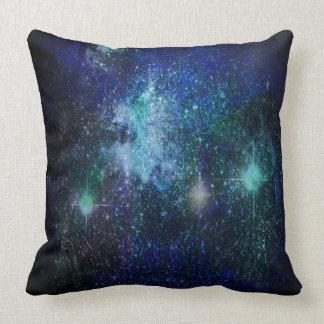 The Blue Galaxy Throw Pillow
