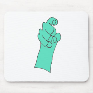 The BLUE HAND 1.PNG Mouse Pad