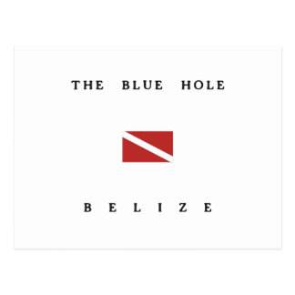 The Blue Hole Belize Scuba Dive Flag Postcard
