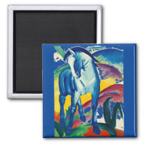 The Blue Horse by Franz Marc Magnet