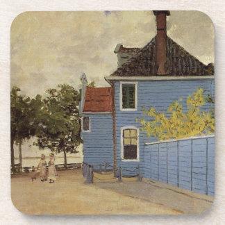 The Blue House at Zaandam by Claude Monet Beverage Coaster