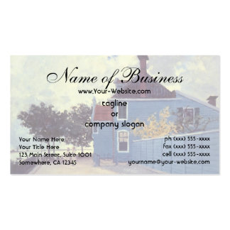 The Blue House at Zaandam by Claude Monet Double-Sided Standard Business Cards (Pack Of 100)