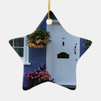 The Blue House, Saffron Walden, Essex, UK Ceramic Ornament
