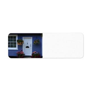 The Blue House, Saffron Walden, Essex, UK Return Address Label
