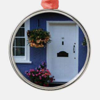The Blue House, Saffron Walden, Essex, UK Metal Ornament
