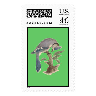 The Blue Jay	(Garrulus cristatus) Stamps