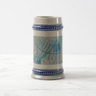 The Blue Jellyfish Beer Stein